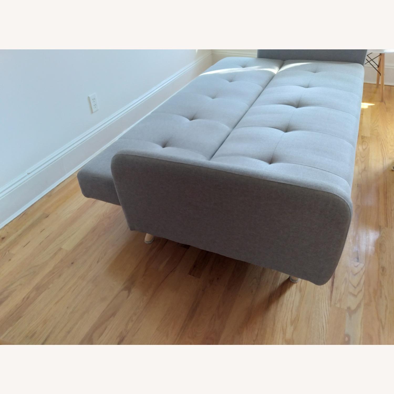 Target Dark Grey Fabric Folding Sofa - image-3