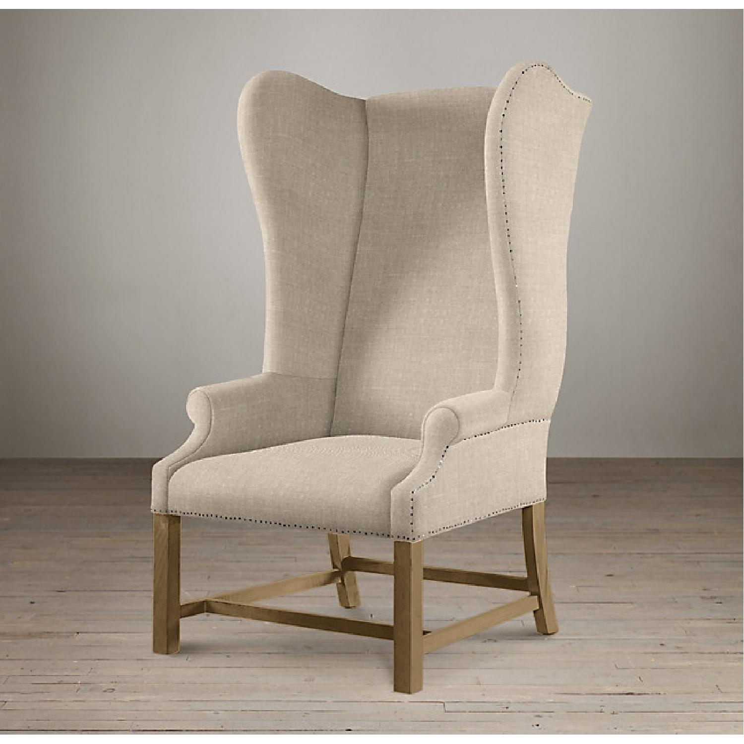 Restoration Hardware French Wingback Chair - image-0