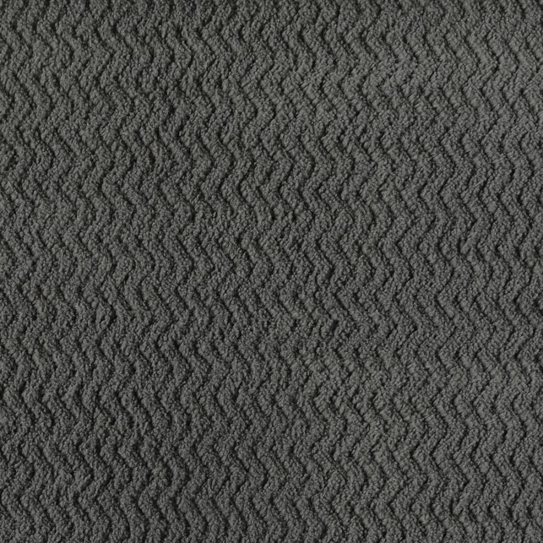 Sofa In Charcoal Chevron Velvet Upholstery Finish - image-2