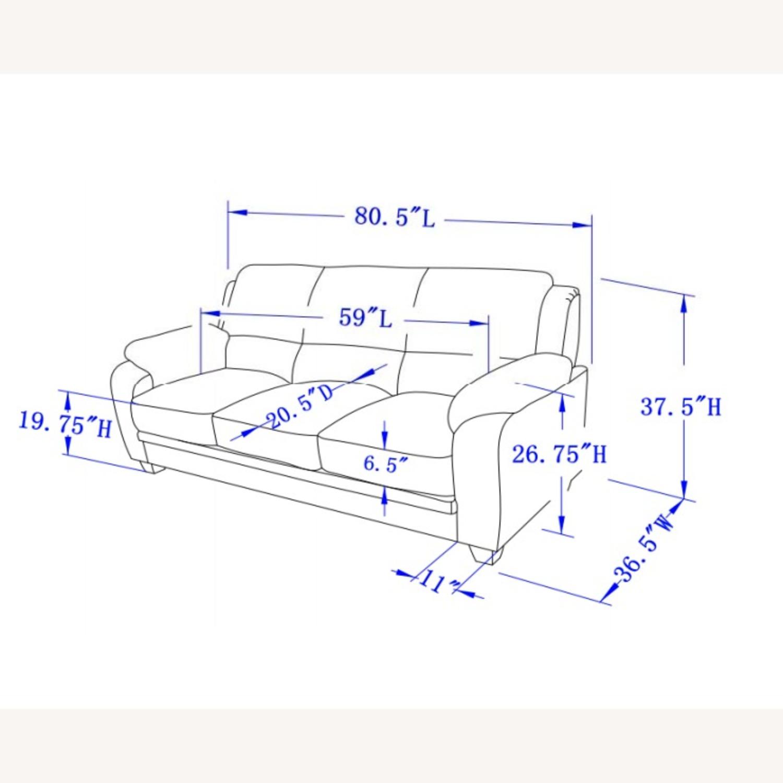 Sofa In Charcoal Chevron Velvet Upholstery Finish - image-4