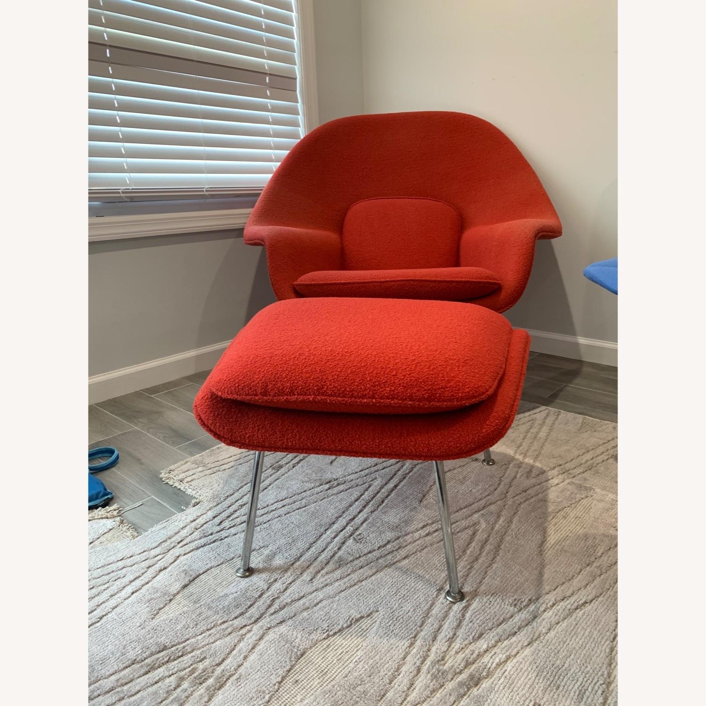 Eero Saarinen Knoll Womb Chair with Ottoman - image-5