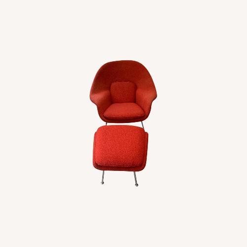 Used Eero Saarinen Knoll Womb Chair with Ottoman for sale on AptDeco
