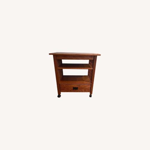 Used Solid Oak Media/bar Cart for sale on AptDeco