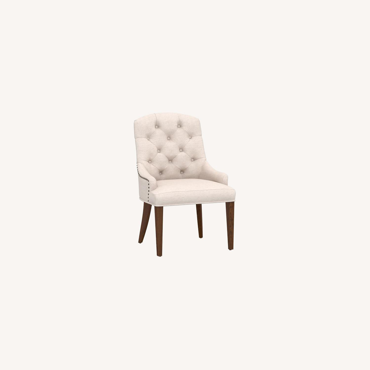 Pottery Barn Lorraine Upholstered Tufted Armchair - image-0