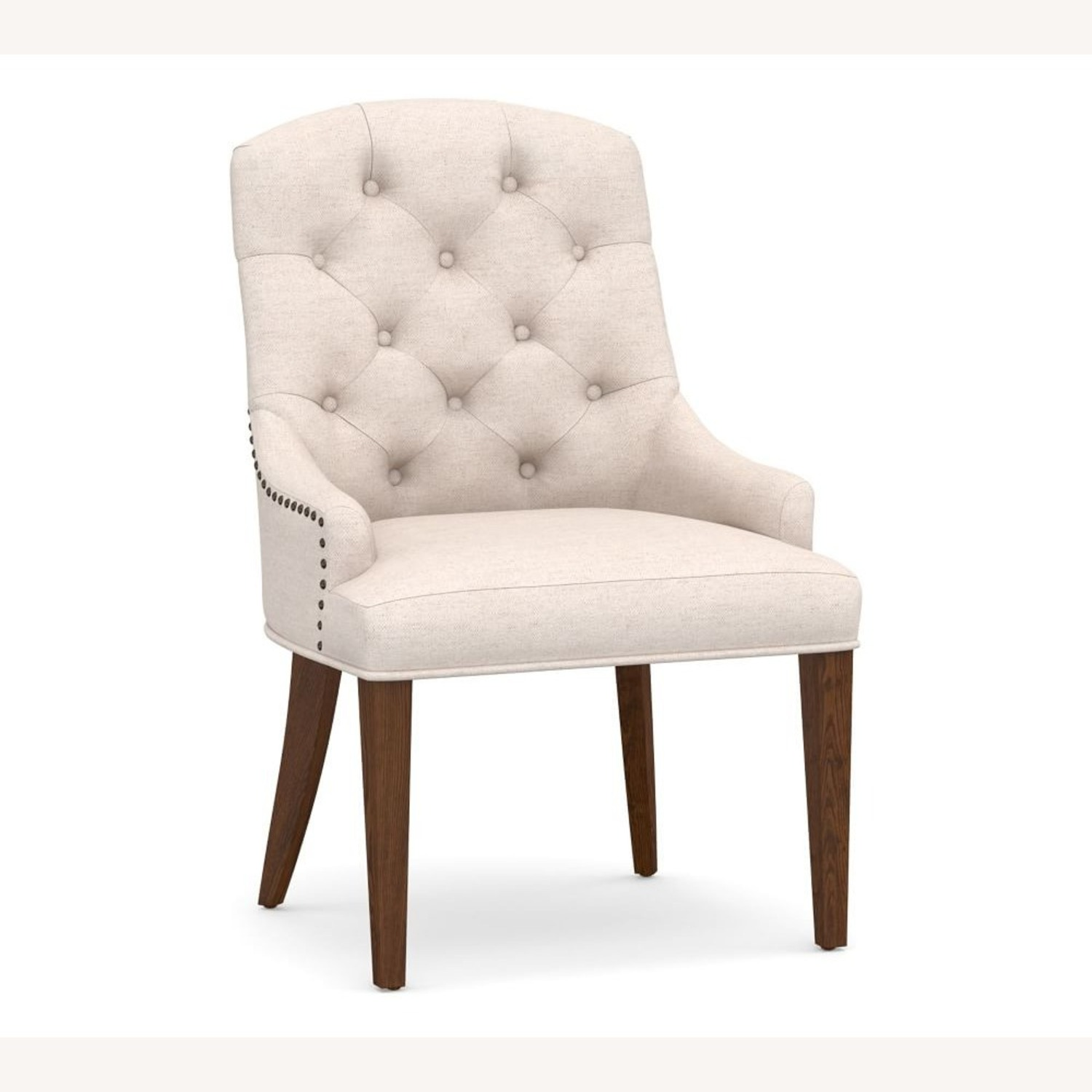 Pottery Barn Lorraine Upholstered Tufted Armchair - image-1