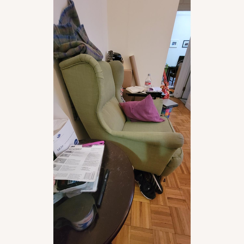 IKEA Green Wingback Chair - image-3