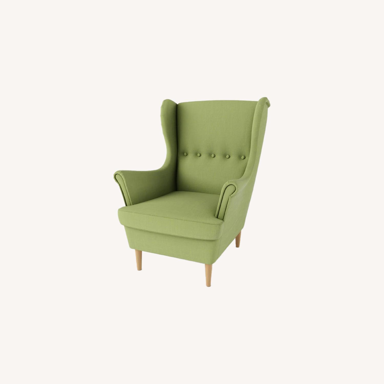 IKEA Green Wingback Chair - image-0