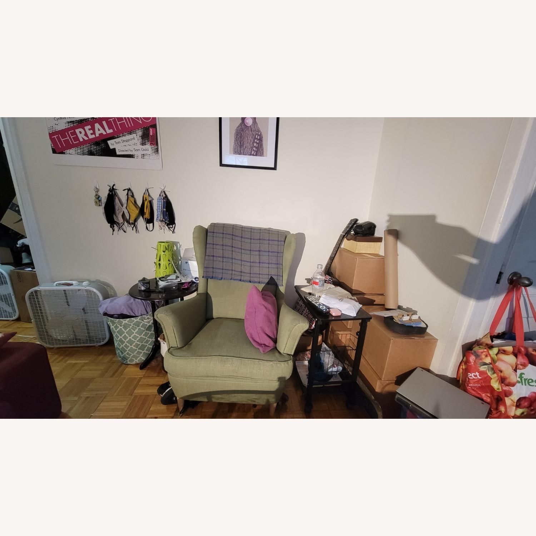 IKEA Green Wingback Chair - image-2