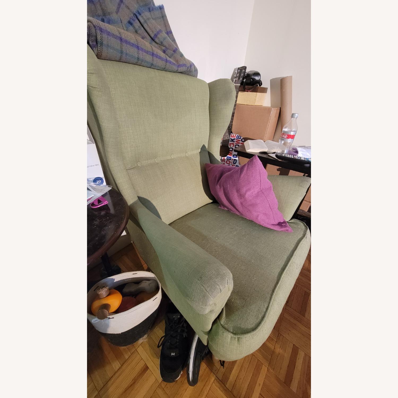 IKEA Green Wingback Chair - image-4