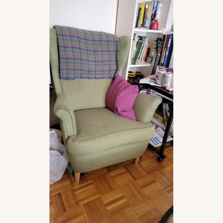 IKEA Green Wingback Chair - image-1