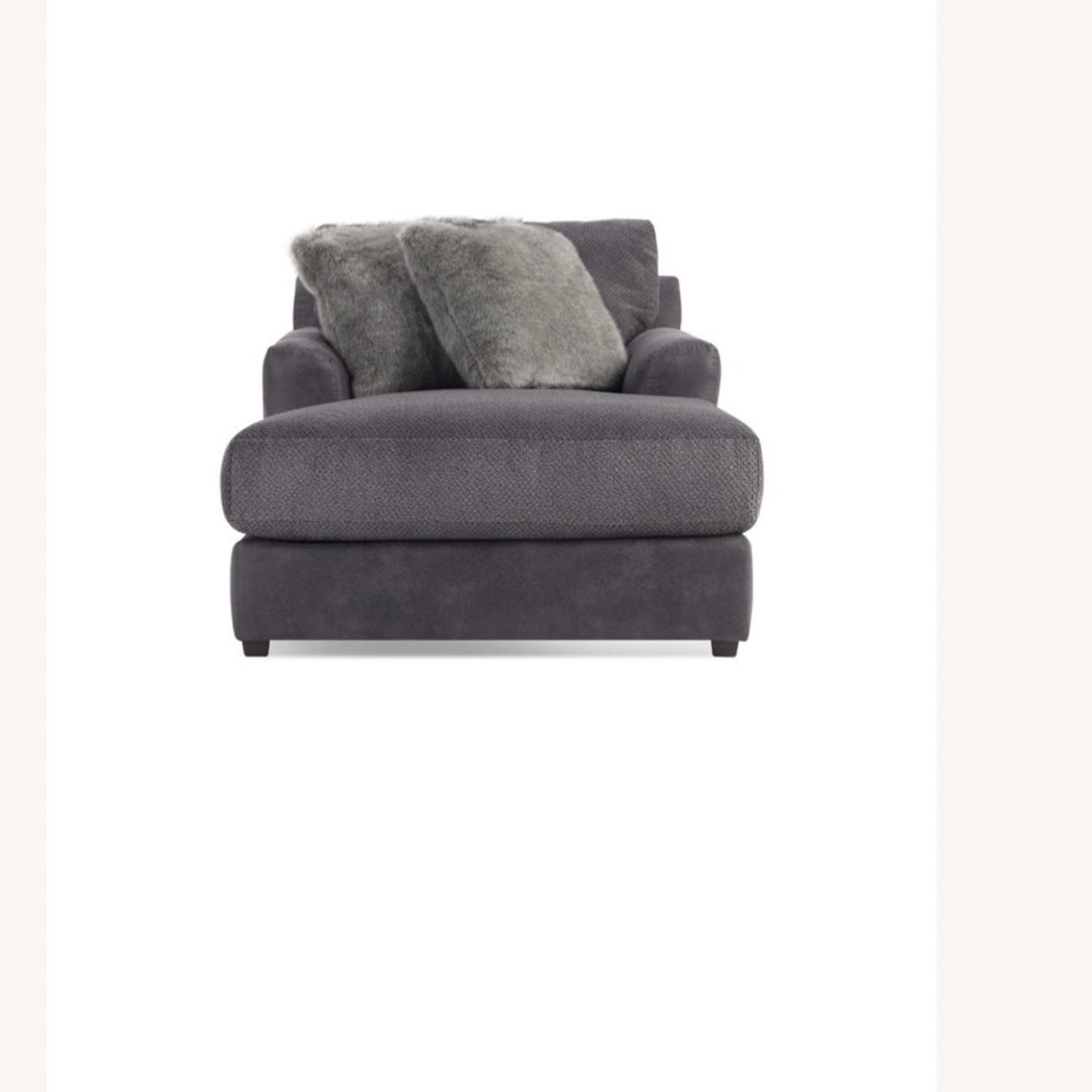 Bob's Discount Grey Chaise Lounge - image-0