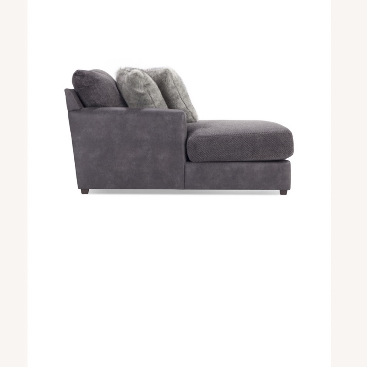 Bob's Discount Grey Chaise Lounge - image-2