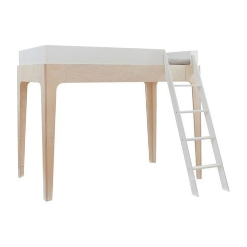 Used Oeuf Perch Full Loft Bed - White/Birch for sale on AptDeco