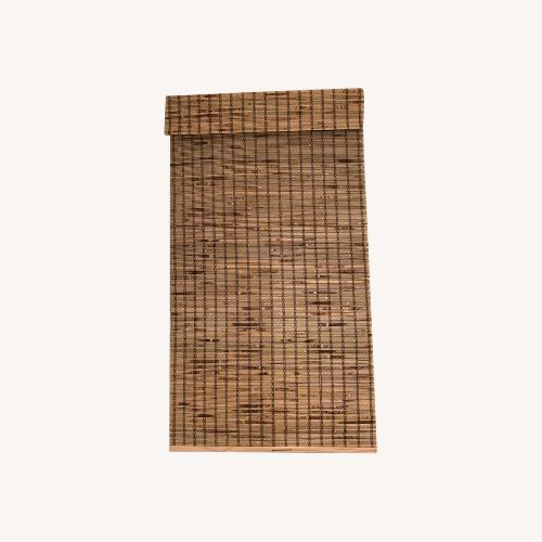 Used Semi-Sheer Rustic Roman Shade for sale on AptDeco