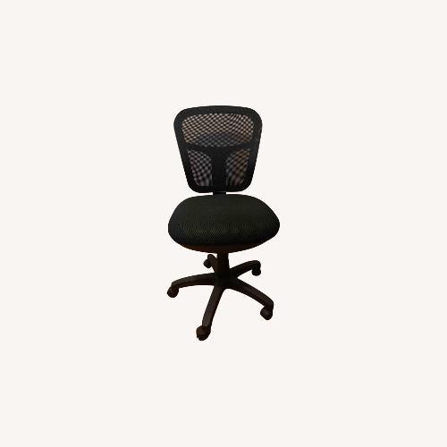 Used Harrison Armless Swivel Chair Black - Niche for sale on AptDeco
