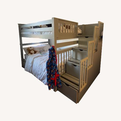Used Bunk Bed King Full Overfull Bunk Bed with Tons of Storage for sale on AptDeco