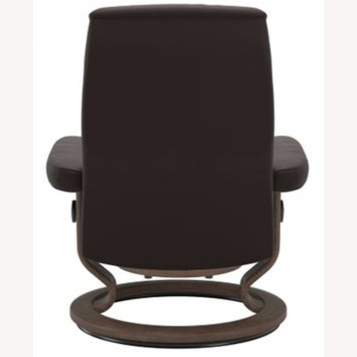 Raymour & Flanigan Leather Reclining Chair and Ottoman - image-3