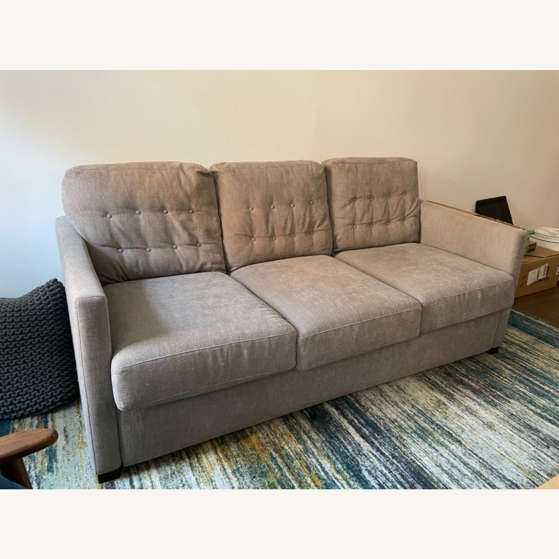 American Leather Fabric Sleeper Sofa - image-2