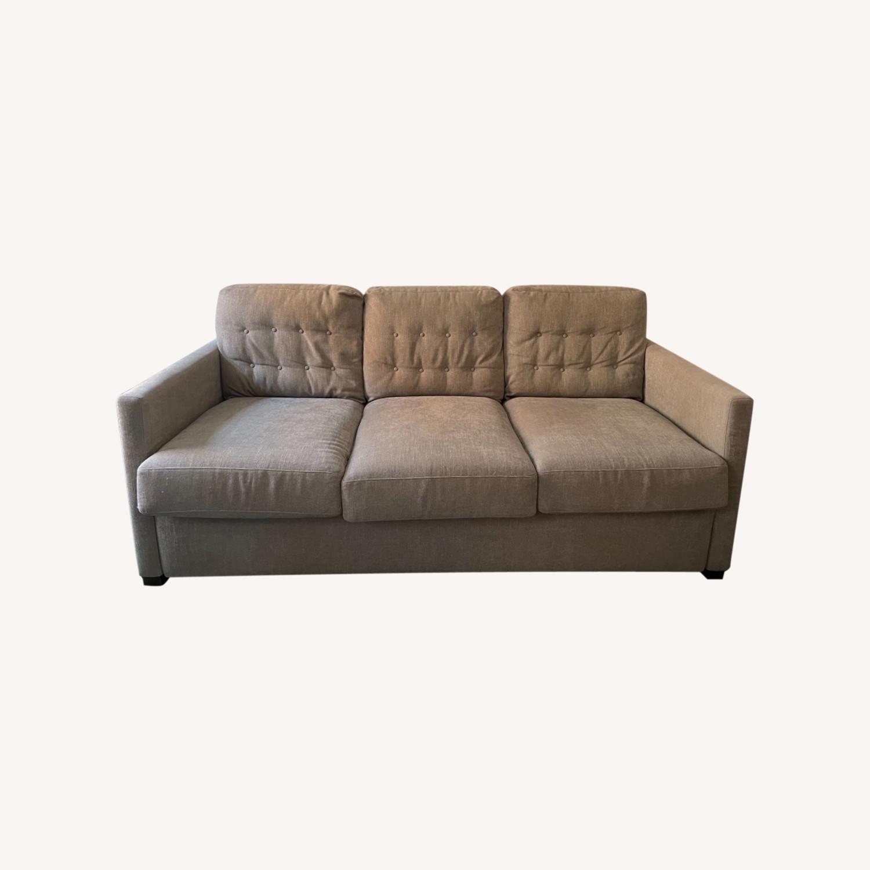 American Leather Fabric Sleeper Sofa - image-0