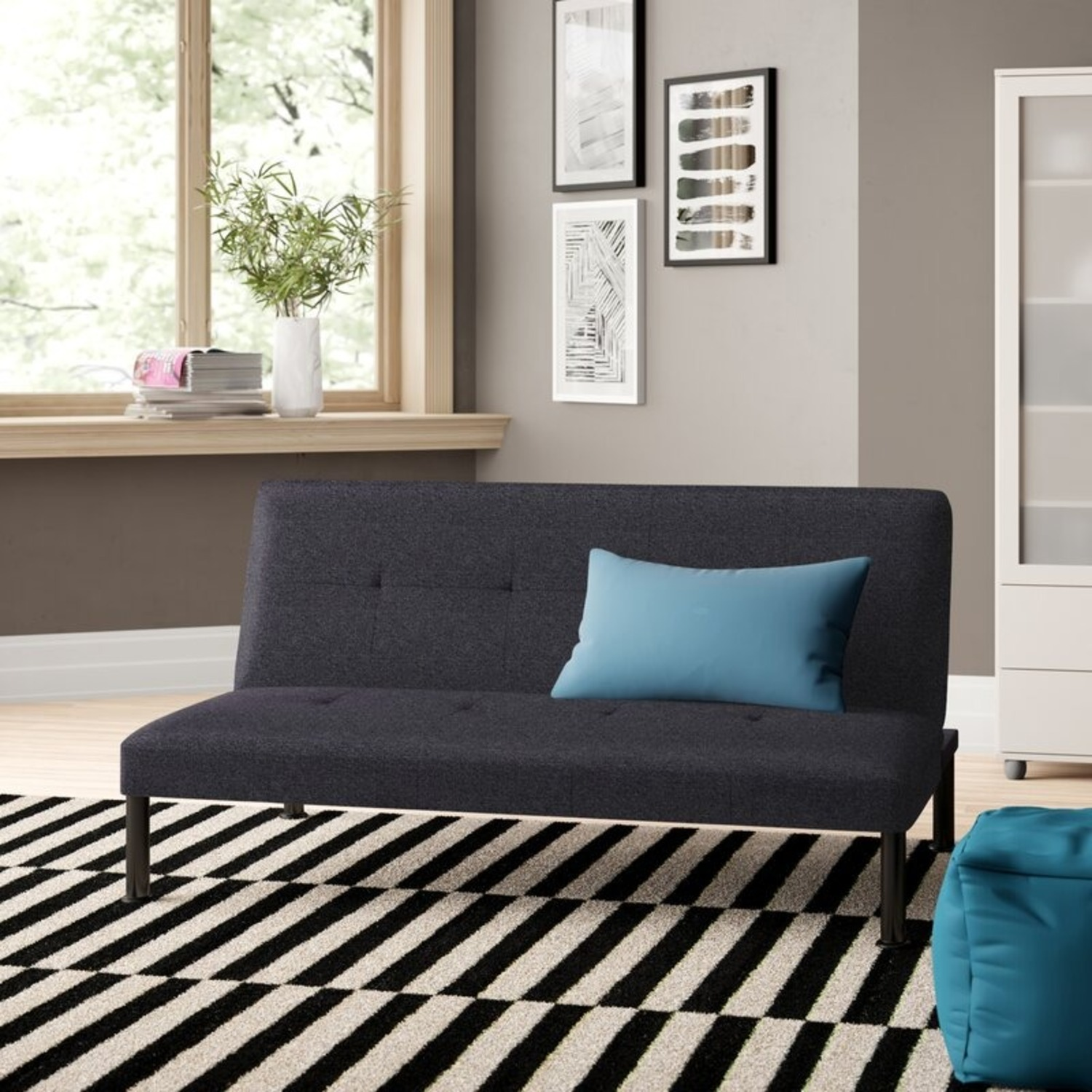 """Wayfair Iselys Twin 64"""" Wide Tight Back Convertible Sofa - image-2"""