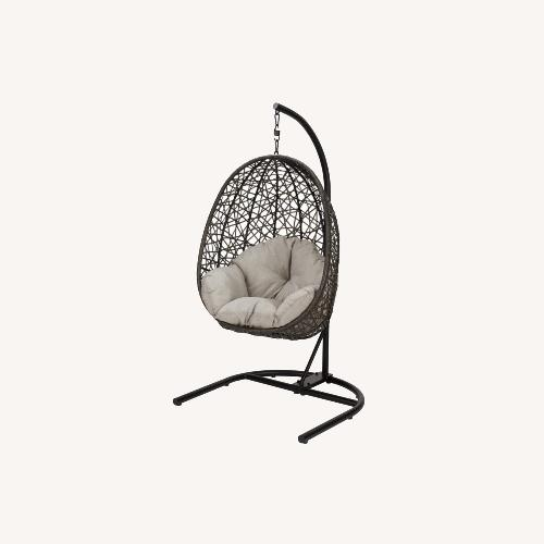 Used Outdoor Swing Chair Hammock with Stand for sale on AptDeco