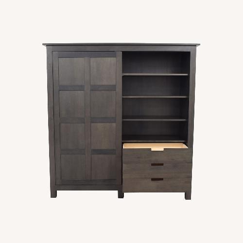 Used Room & Board Grey Armoire for sale on AptDeco