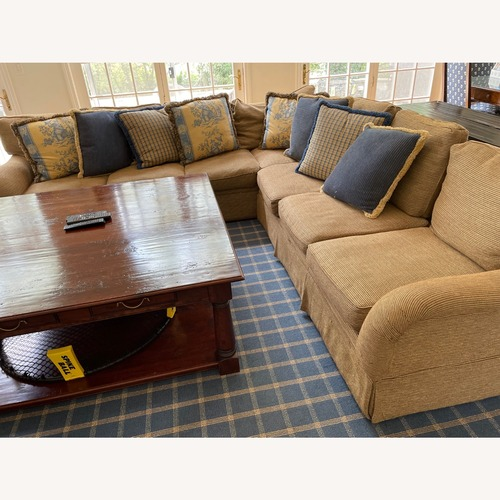 Used Stickly Audi Tweed Sectional for sale on AptDeco
