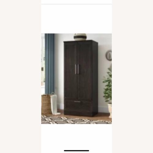 Used Andover Mills Dard Oak Armoire for sale on AptDeco