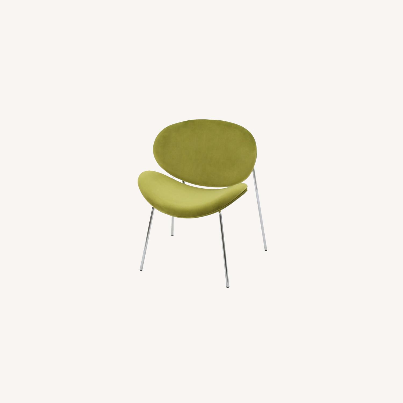 Wayfair Wrought Studio Green Velvet Accent Chair - image-0