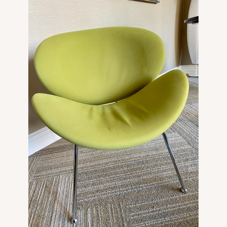 Wayfair Wrought Studio Green Velvet Accent Chair - image-3