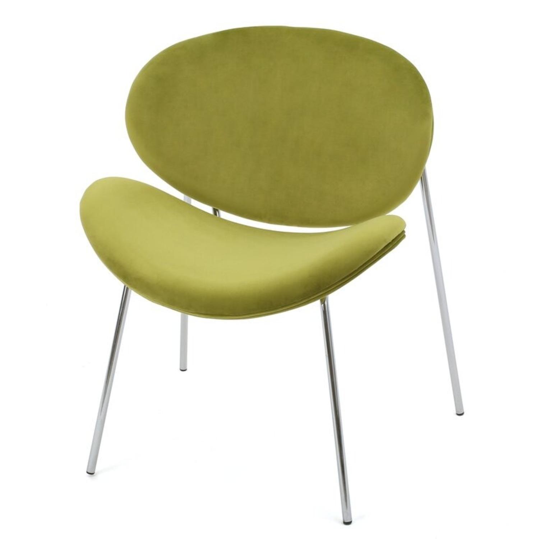 Wayfair Wrought Studio Green Velvet Accent Chair - image-1