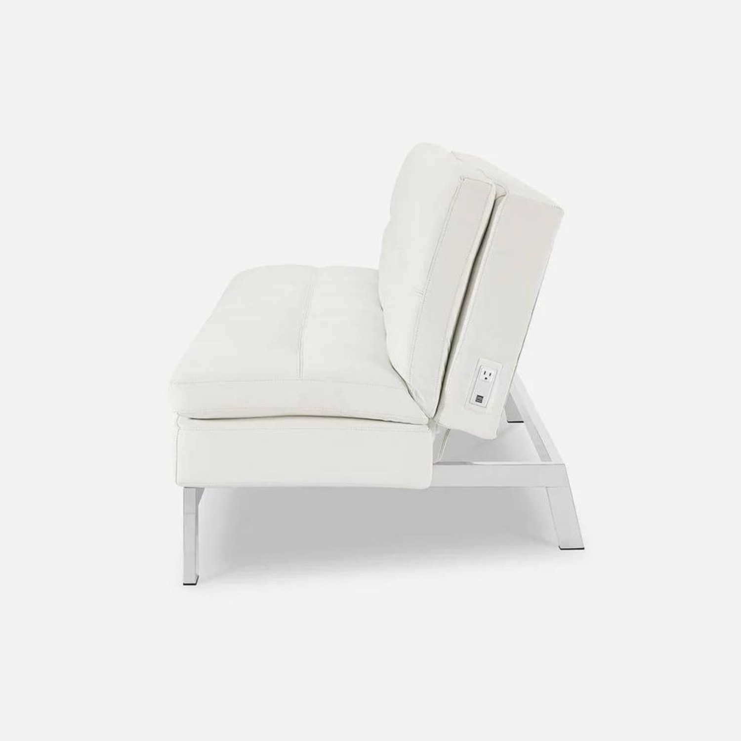 Coddle Toggle Convertible Couch Perl/White Leather - image-2