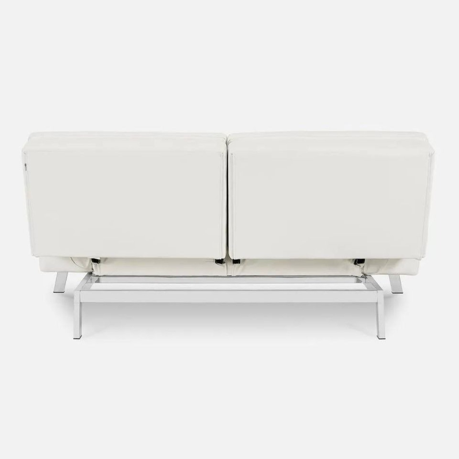 Coddle Toggle Convertible Couch Perl/White Leather - image-5
