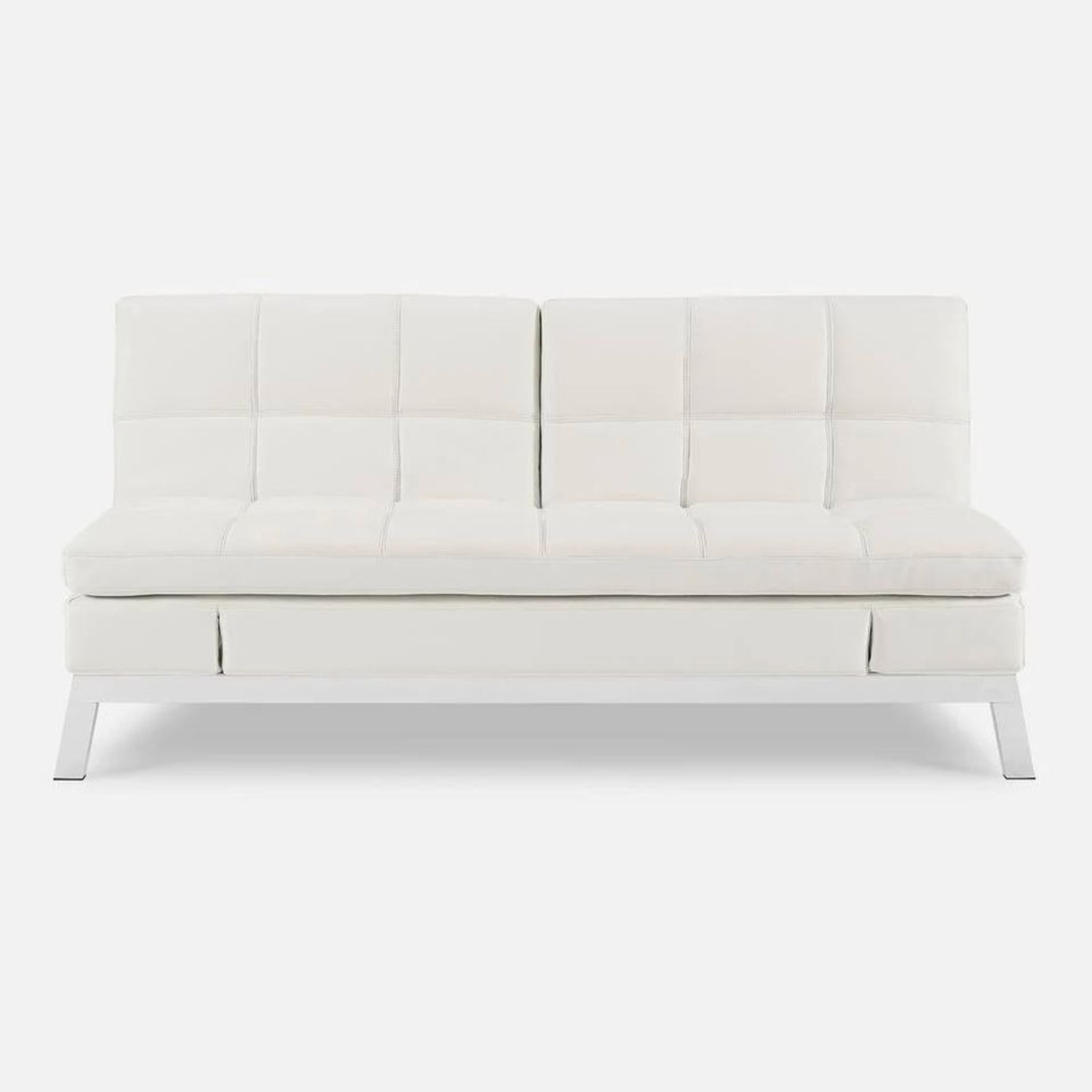 Coddle Toggle Convertible Couch Perl/White Leather - image-3