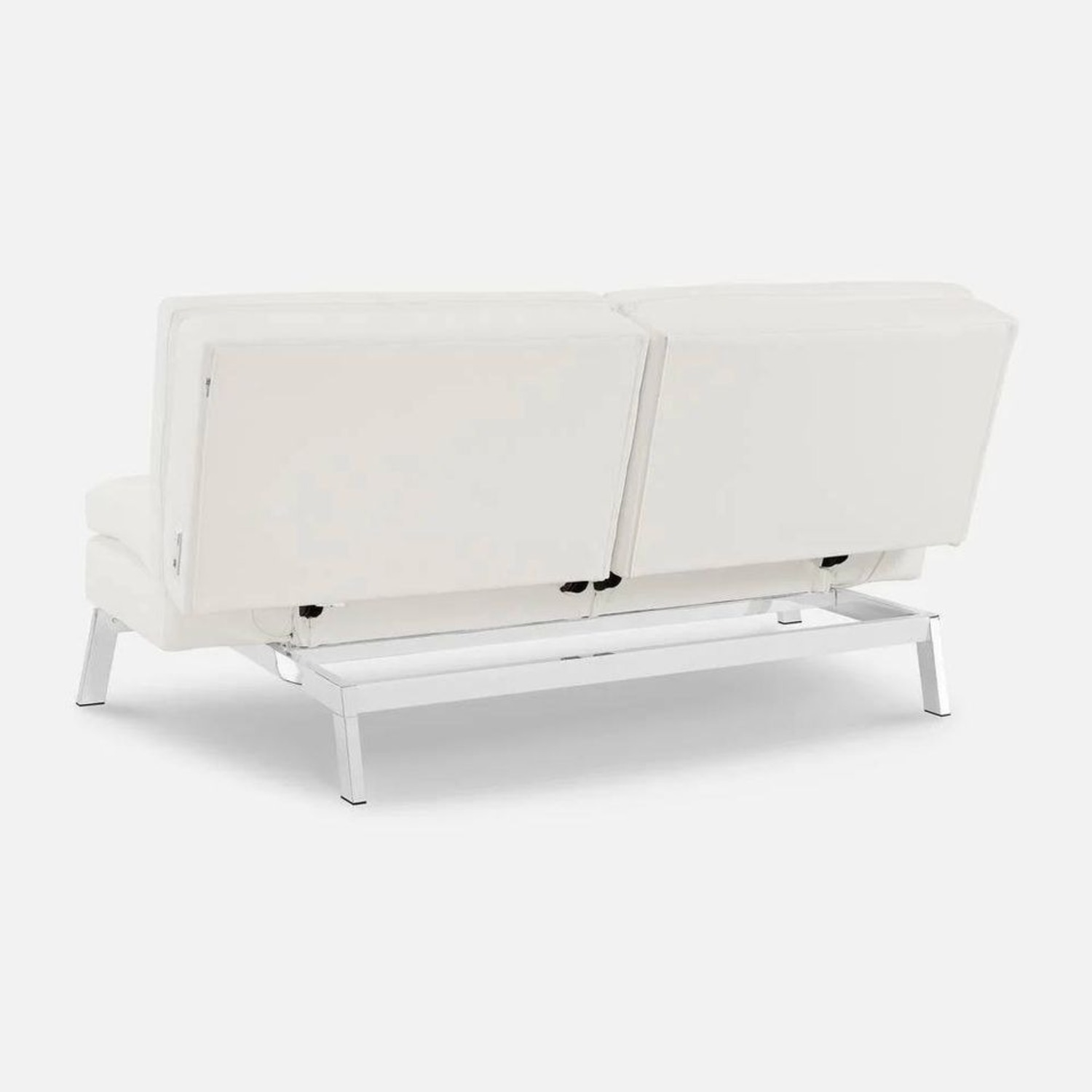 Coddle Toggle Convertible Couch Perl/White Leather - image-10