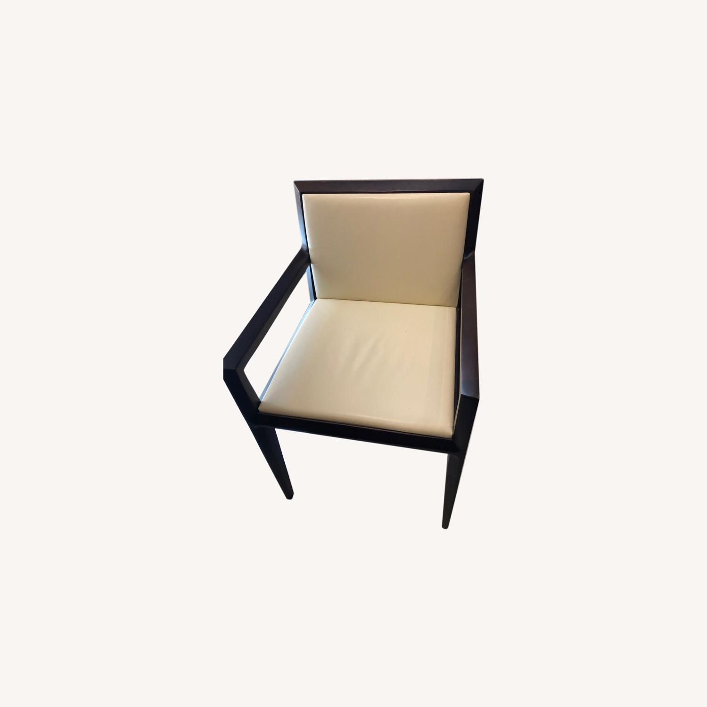 Vintage Cream Leather Armchair - image-0