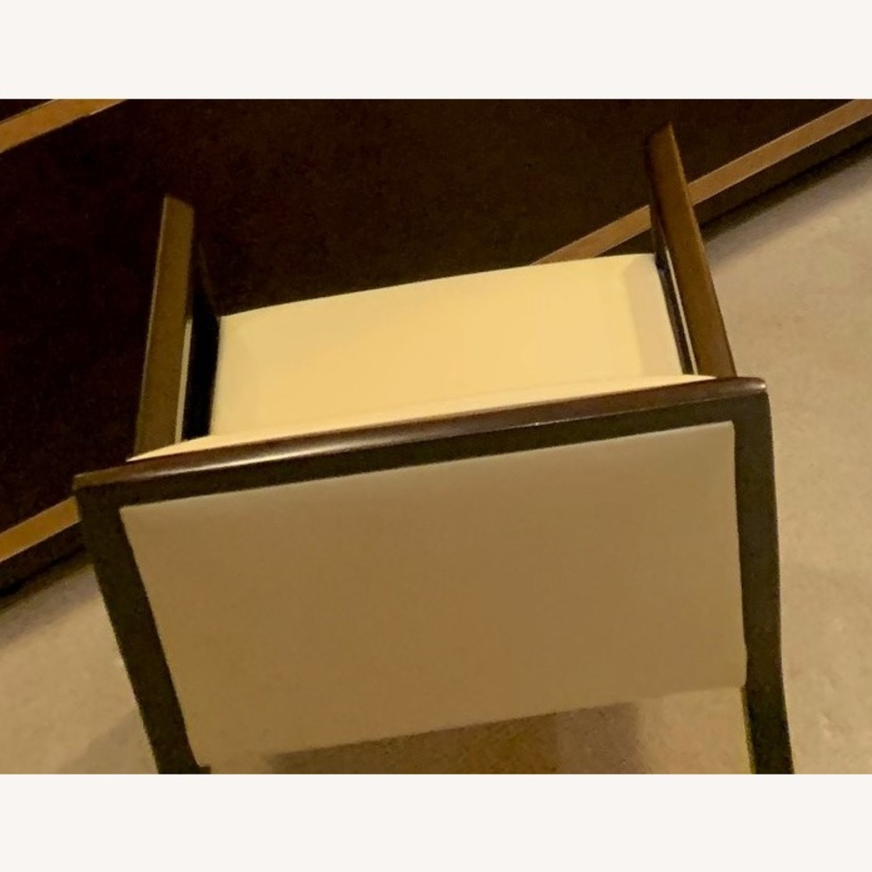 Vintage Cream Leather Armchair - image-3