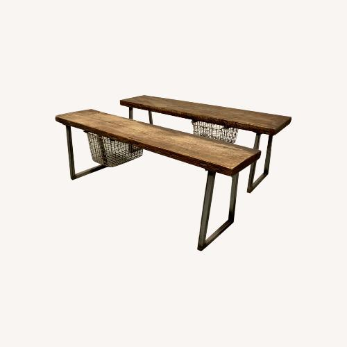 Used Urban Woods Goods Rustic Reclaimed Wood Benches for sale on AptDeco