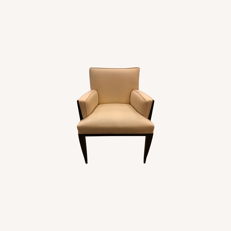 Vintage Ivory Plush Armchair - image-0