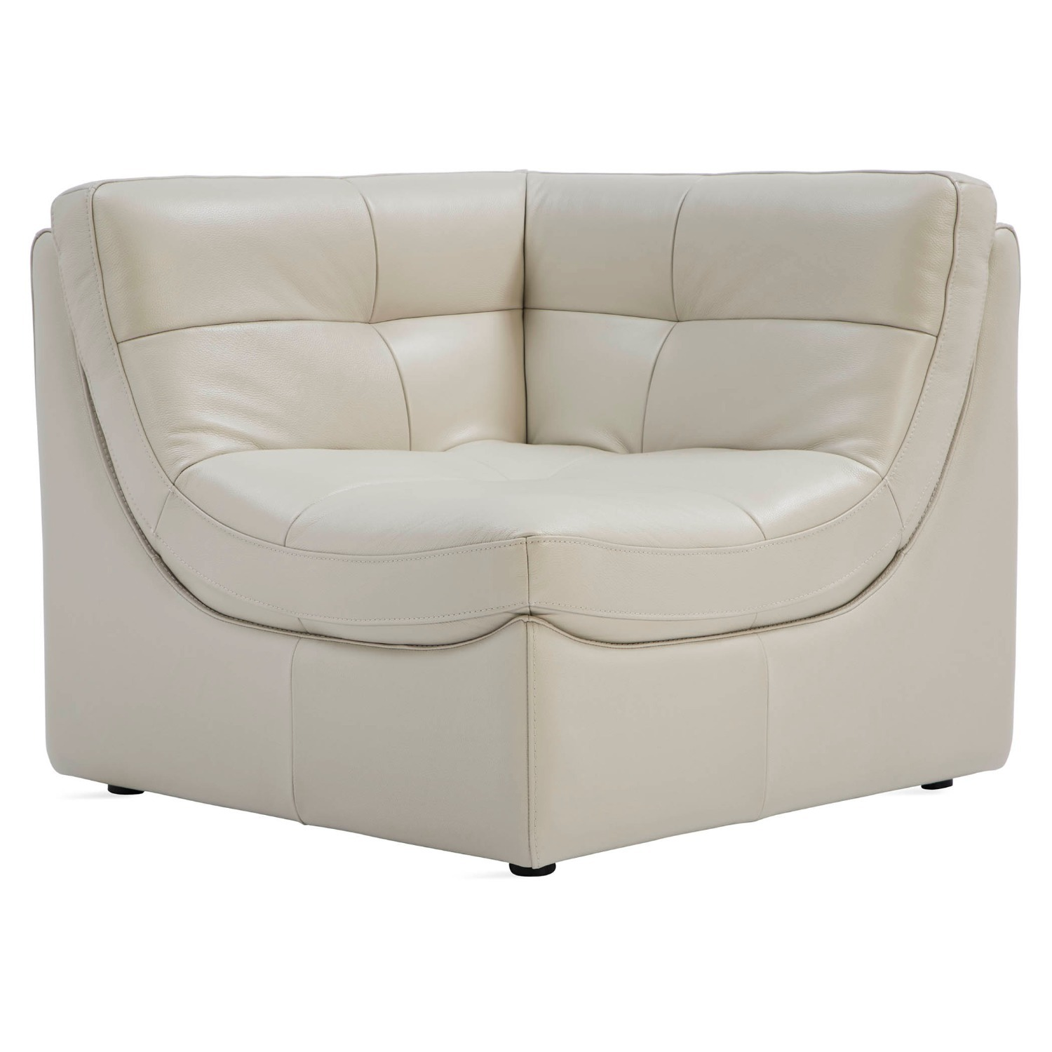 Zgallerie White Leather Sectional Sofa - image-3
