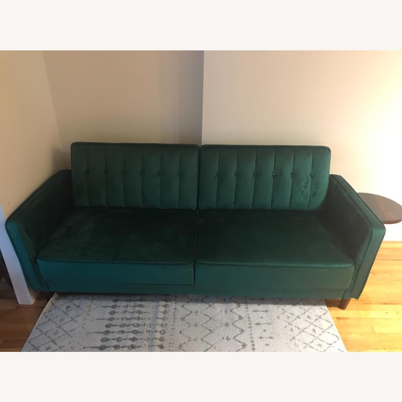 Wayfair Green Velvet Sofa - image-2