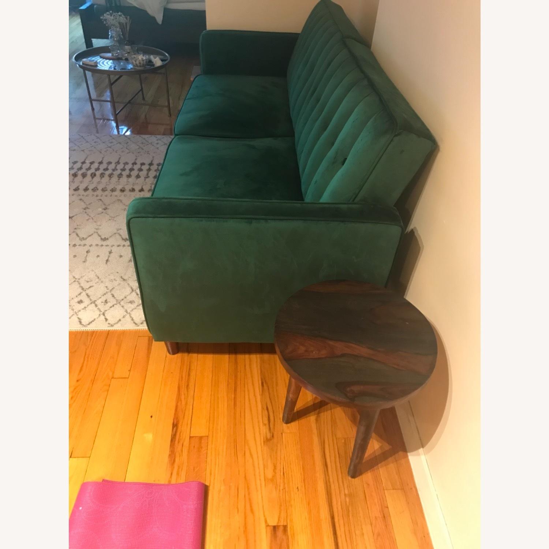 Wayfair Green Velvet Sofa - image-3