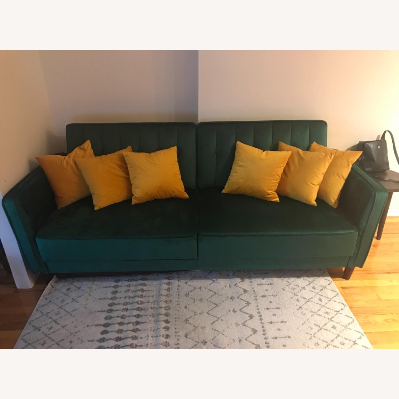 Wayfair Green Velvet Sofa - image-1