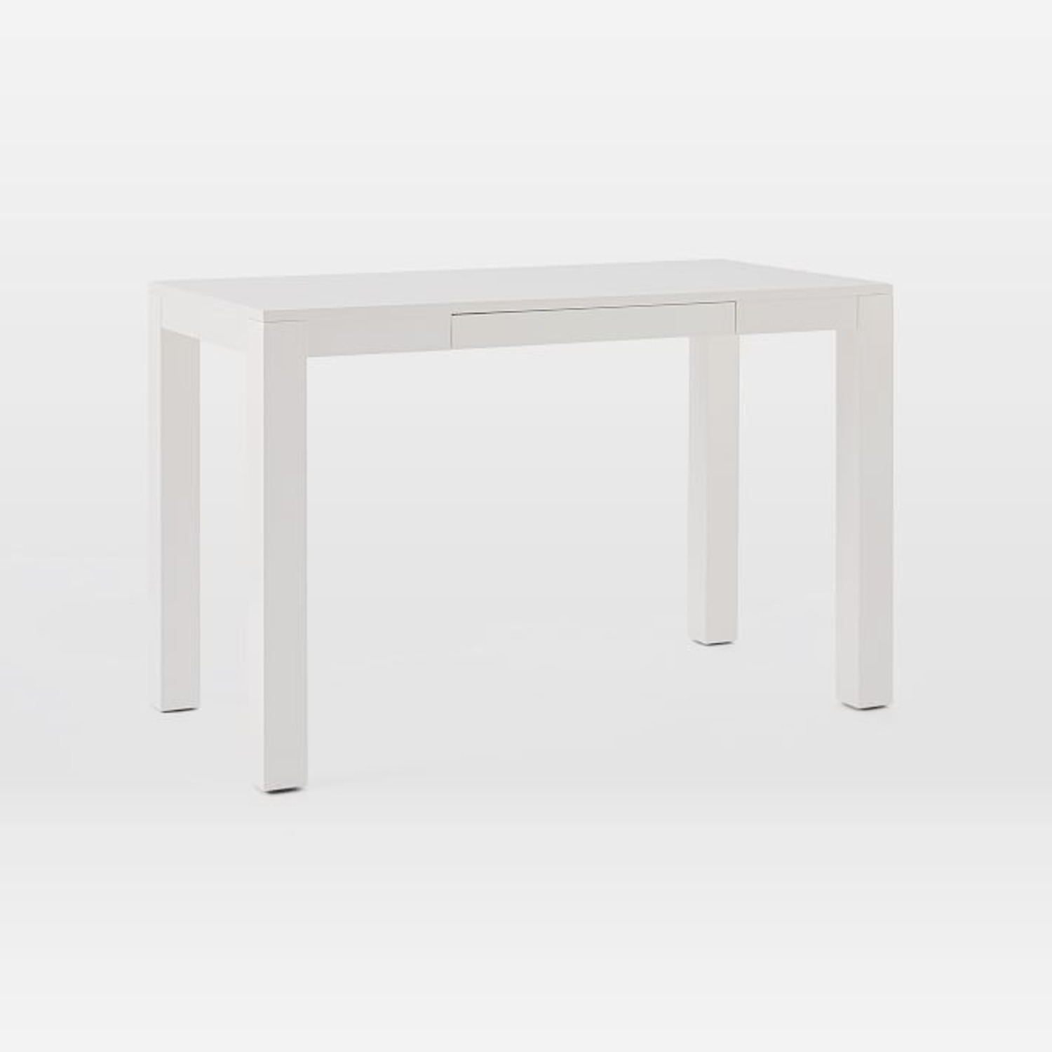 West Elm Parsons Desk With Drawers, White - image-1