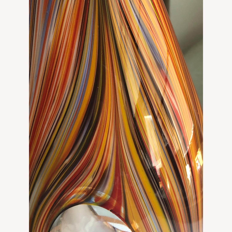 Missoni Modern Optical Striped Blown Glass Vase - image-1
