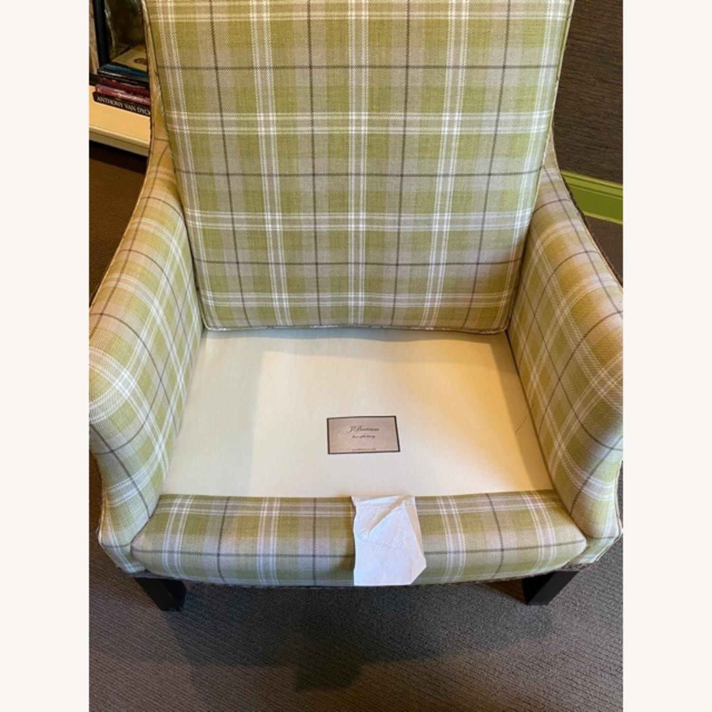 Robert Allen Plaid Club Chairs with raffia trim - image-11