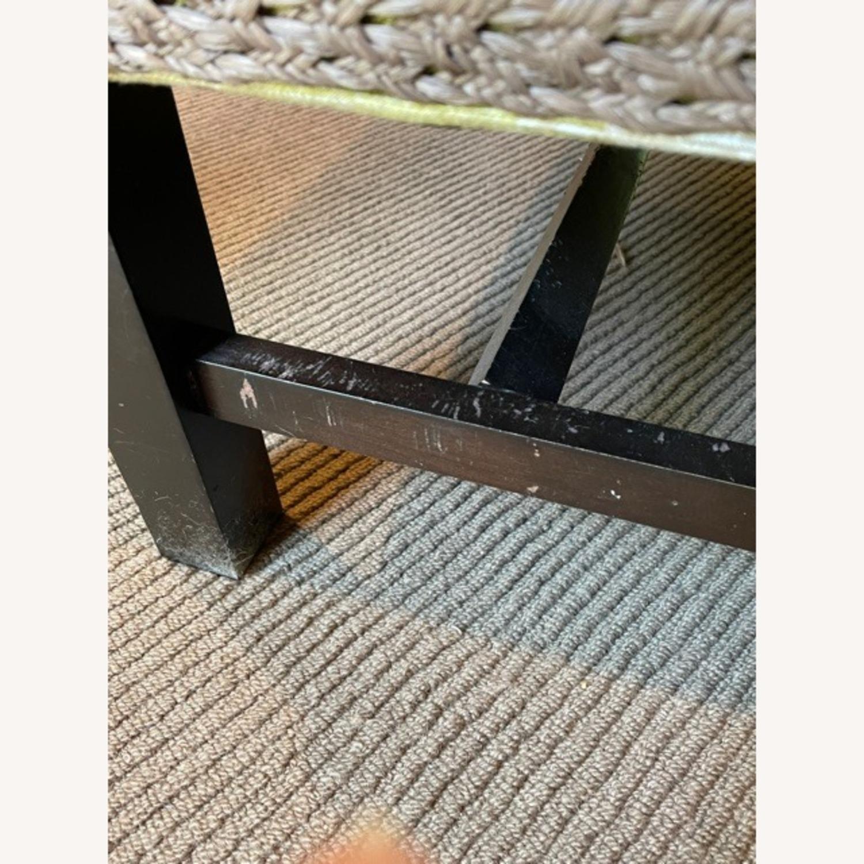 Robert Allen Plaid Club Chairs with raffia trim - image-8