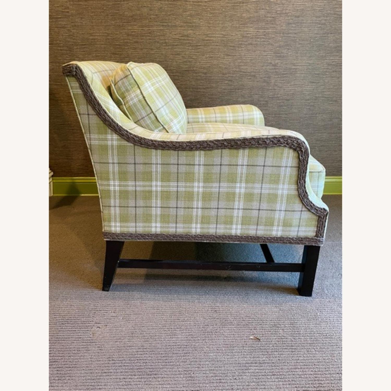 Robert Allen Plaid Club Chairs with raffia trim - image-3