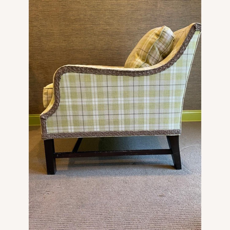 Robert Allen Plaid Club Chairs with raffia trim - image-7