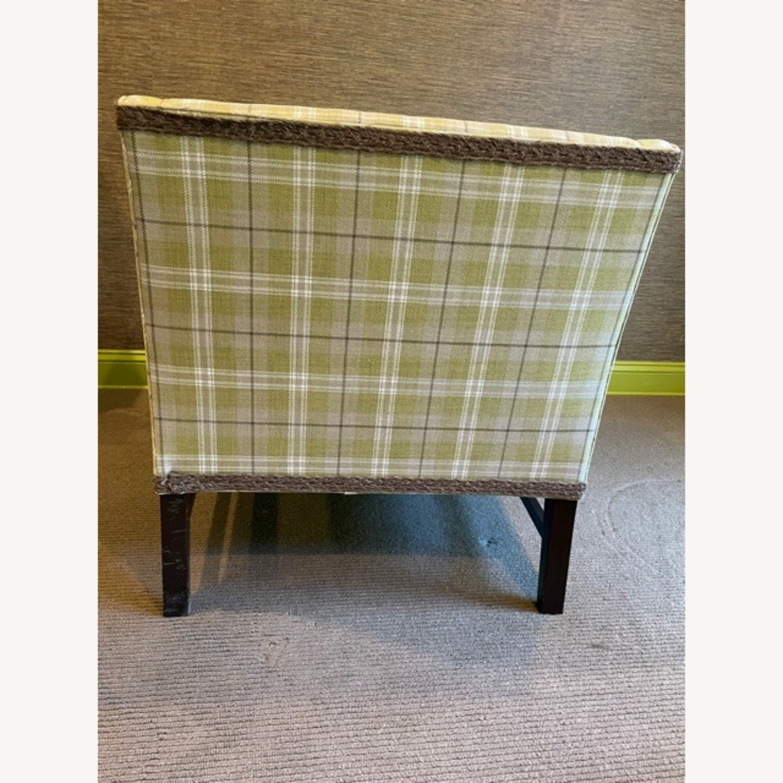 Robert Allen Plaid Club Chairs with raffia trim - image-5